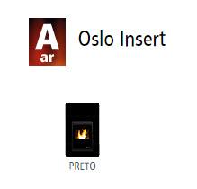 Estufas de ar canalizado Oslo Insert 1